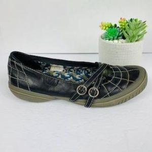 Merrell Black Quilted Mary Jane Flats